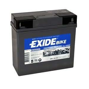 Lote de Exide GEL 12-19 Bateria de moto y cargador de ...