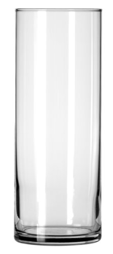 Libbey Cylinder Vase, 9-Inch, Clear, Set of 12 -
