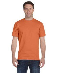 Texas Orange T-shirt - Gildan mens DryBlend 5.6 oz. 50/50 T-Shirt(G800)-TEXAS ORANGE-M