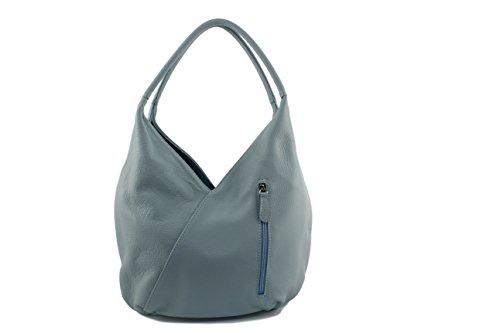 A Naomi Cuir Ciel Sac Naomi sac Italie Made sac In Bleu Camel Coloris Main Femme Jour De Plusieurs pdqUxUR