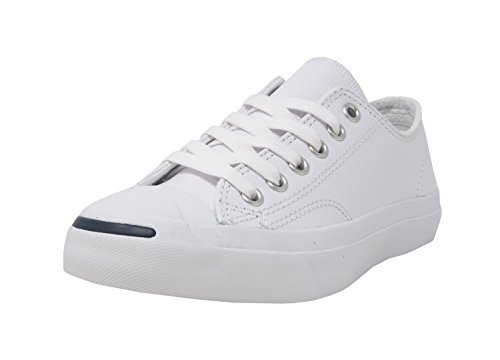 Converse Jack Purcell Leather Fashion-Sneakers, White, 5.5 B(M) US Women / 4 D(M) US Men (Sneakers Jack)