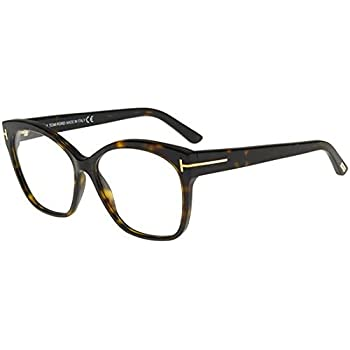 072def28c3d Amazon.com  Tom Ford FT 5435 Dark Havana 57 15 140 Women Eyewear ...
