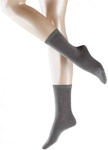 Falke Womens Cosy Wool Socks - Light Grey - Medium
