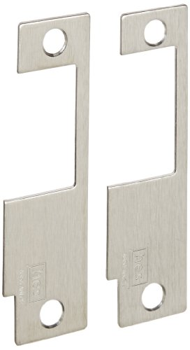 HES Stainless Steel 852M Faceplate for 8500 Series Electric Strikes for Variety of Mortise Locksets, Satin Stainless Steel Finish (Stainless Strike Electric Keeper)