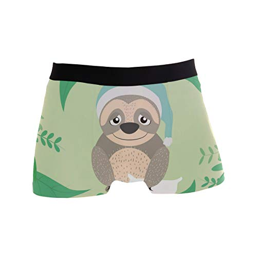 Funny Cute Sloth Boxer Briefs Mens Underwear Pack Seamless Comfort Soft
