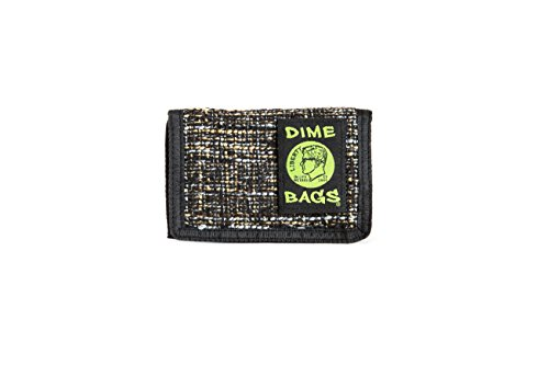 Dime Bags Trifold Hempster Wallet - Classic Trifold Design w/Exterior Pocket and Interchangable Label (Concrete)