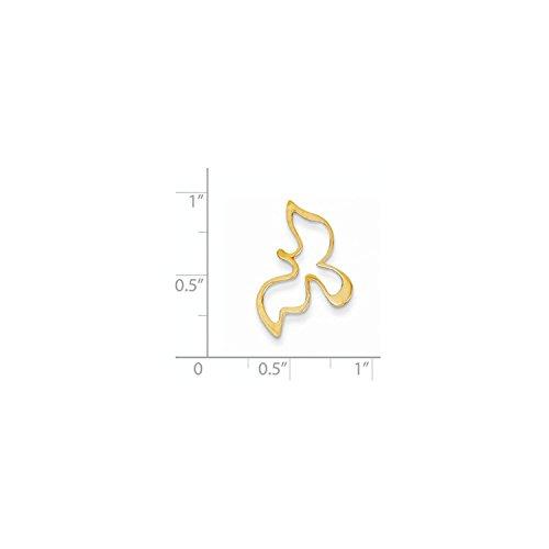 Yellow Gold Dove Charm - 3