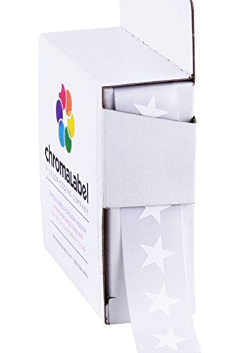 ChromaLabel 3/8 inch Color-Code Star Labels | 1,000/Dispenser Box (White)