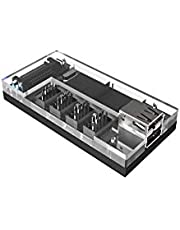 Micro Connectors S08-303-IA - Acrylic Internal USB 2.0 Hub with Magnetic Base - 5 USB 2.0 Ports Expansion