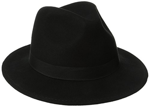 HYDE PARK - CRUSHABLE Water Resistant Safari Fedora Hat - Black (Large)