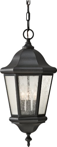 Murray Feiss Fans - Feiss OL5911BK Martinsville Outdoor Lighting Pendant Lantern, Black, 3-Light (10