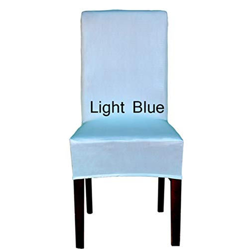 (TANGOGO 1PC Lycra Chair Cover Polyester Spandex Elastic Tissu Dining Chair Covers for Vintage Home Decor 20 Color Solid Color Stool Cover)