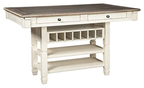 Ashley Furniture Signature Design - Bolanburg Counter Height Dining Room Table - Antique White (Table Furniture Ashley Dining)