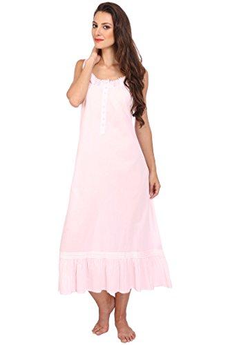 Miss Lavish Victorian Style Nightgown Sleeveless Long Sleepwear Women Cotton Plus Size Vintage -