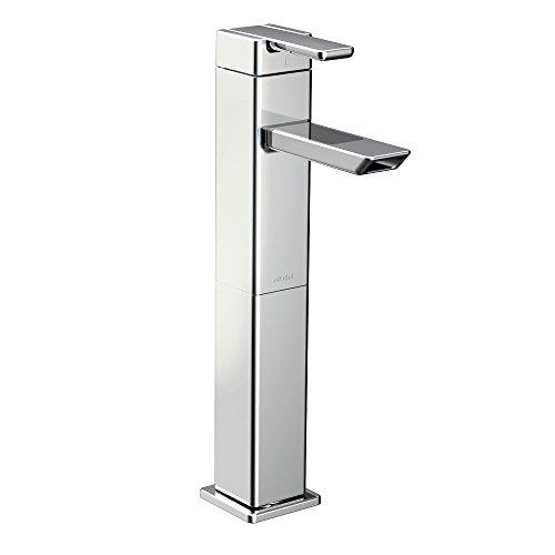 Moen S6711 90-Degree One-Handle High Arc Bathroom Faucet, Chrome ()