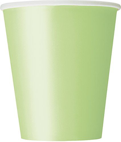 Paper Cups, 9 Ounce, Apple Green, 14 Count