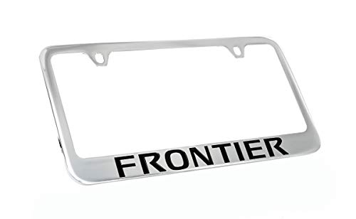 (Nissan Frontier Chrome Plated Metal License Plate Frame Holder)