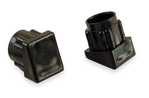 Round Slip-On Furniture Protective Leg Tips, Black Plastic, 3/4' Leg Outside Dia, 24PK - Pack of 5 by GRAINGER APPROVED (Image #1)