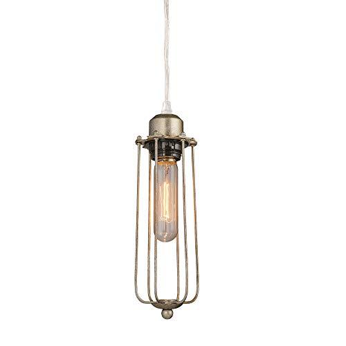LNC A03243 - Lámpara de techo con colgante de Edison tubul