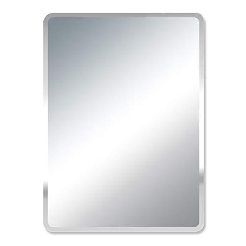 Frameless Flat Mirror Medicine Cabinet - QAQ Wall Mirror Bathroom Makeup Mirror Rectangle Wall Mount Bathroom Mirror, Frameless Fillet, Makeup mirror丨Vanity Mirror丨Shaving Mirror, Fashion Bathroom Decoration(3545cm, 4060cm, 5070cm)