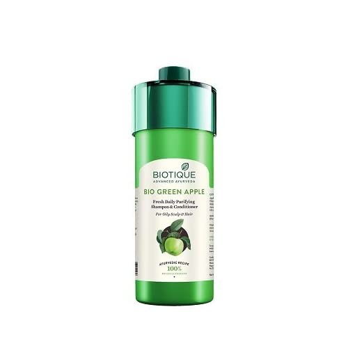 Bio Green Apple Fresh Daily Purifying Shampoo And Conditioner, 800Ml