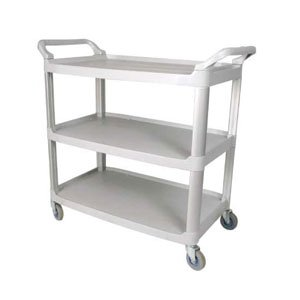 Winco UC-40G 3-Tier Utility Cart, 40-Inch by 19.75-Inch by 37.5-Inch, Gray by Winco
