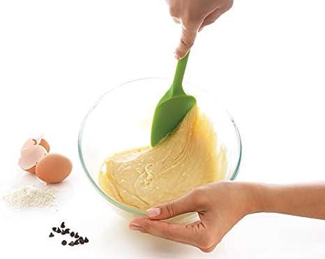 MASTRAD F10414 Cuill/ère-P/âtisserie Desserts Pr/éparation-Unibloc-en Silicone-Ne Raye Pas Les Casseroles-Grise