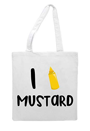 Tote Shopper Mustard Food White Icon Bag Statement Love I PqvR66