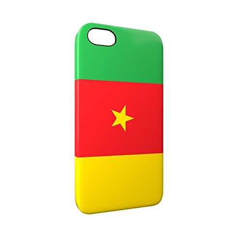 Flag of Cameroon Glossy Hard Snap-On Protective iPhone 5 / 5S / SE Case Cover