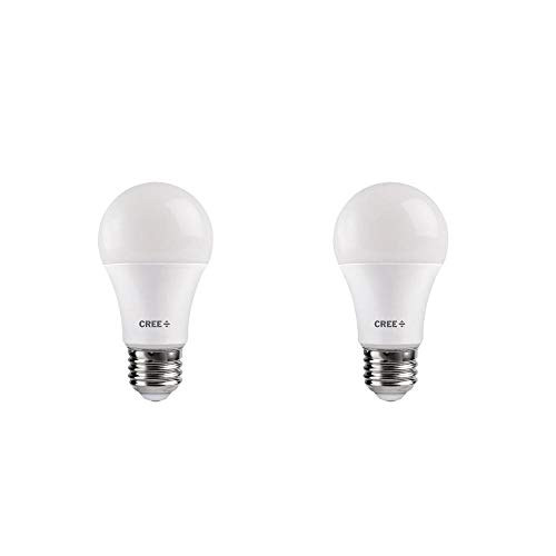 Cree 40W Equivalent Soft White (2700K) A19 Dimmable Exceptional Light Quality LED Light Bulb (2-Pack)
