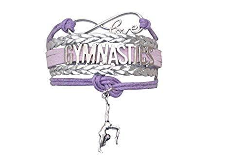 Gymnastics Love Infinity Charm Bracelet- Gymnastics Jewelry for Gymnast ()