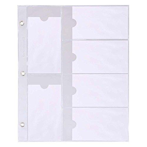 Maniology (formerly bmc) Nail Plate Organizer Binder Sheets Starter Kit: 10 Rectangular Plate Sheets - Holds 12 Per Sheet