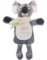 Barn termosflaska med lock 1 L 100 % naturgummi plysch pälsjäl kanin koala ren jul alf regnbåge enhörning present tillbehör (koala)