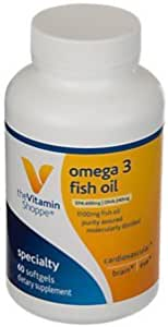 the Vitamin Shoppe Omega-3 Fish Oil 1100 MG (60 Softgels)