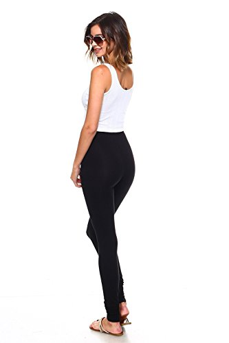 56499409e2f24 Simplicitie Women's Plus Size Premium Ultra Soft High Waist Leggings -  Black, 3X - Made