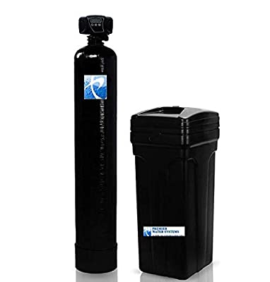 "Whole House Water Softener System with Meter Valve Fleck 5600 | 64,000 Grain, 12""x52"", 2 cu ft 