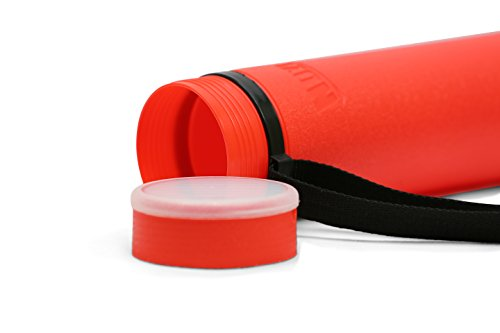 (Nozlen Document Poster Tube - Red Plastic Storage Tube Expands from 24.5