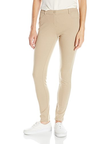 IZOD Junior's Uniform Stretch Interlock Jegging, Khaki, 7 by IZOD