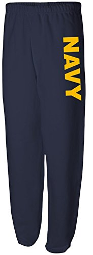 Joe's USA Navy Navy Logo Pants Navy Logo Sweatpants, Size XL - Navy Logo Sweatpants