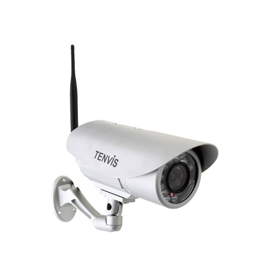 TENVIS IP391W-HD Outdoor Wireless Waterproof Bullet IP/Network Security Surveillance Camera, Support Smart Phone Remote View, Screen Capture, with 15m Night Vision, Motion Detection with Instant Alert