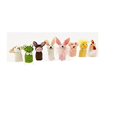 One Hundred 80 Degrees Animal Finger Puppets 8 Assorted: Toys & Games