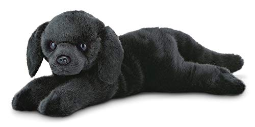 Bearington Jet Black Labrador Retriever Plush Stuffed Animal Puppy Dog, 15 inches