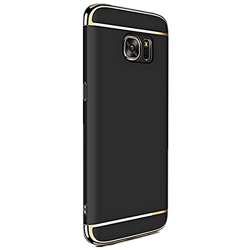 Price comparison product image Meweri 3 In 1 Shockproof Protection Ultra Thin PC Hard Case with Electroplate Frame for Samsung Galaxy S8 Plus Case (S8 Plus, Black)