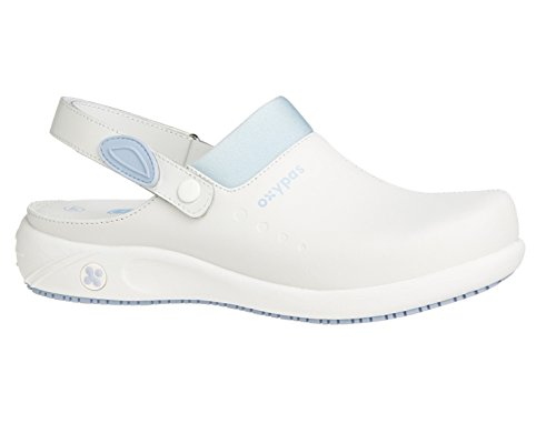 Sandy Antistatic Fashionable Anit Sykepleie Lær Sand Antistatisk With Leather Insole Sole Moteriktig Lining Heel Blå Lys Tette Omsorgs Og Coolmax® Clog Uttakbar Sykepleiere Og Helsepersonell Sikker For Oxypas Removable Nursing Light Blue Egnet Slip Med Caregivers Foring And Hæl Coolmax® Anit Professionals Healthcare Såle Nurses For Oxypas Innleggssåle Suitable d7q5dw