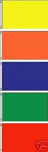 2x3 Yellow Orange Blue Green and Red Solid Color Polyester