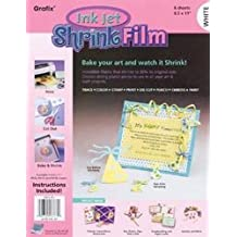 "Bulk Buy: Grafix Ink Jet Shrink Film 8.5""X11"" 6/Pkg White KSF6-WIJ (2-Pack)"