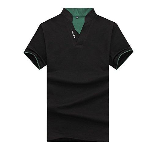 スキッパー ポロシャツ  メンズ  スポーツ tシャツ  半袖  無地  おしゃれ  ゴルフウェア  トップス  カジュアル  コーデ  夏