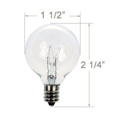 Brightown-Pack-of-25-Clear-Globe-G40-Candelabra-Screw-Base-Light-Bulbs
