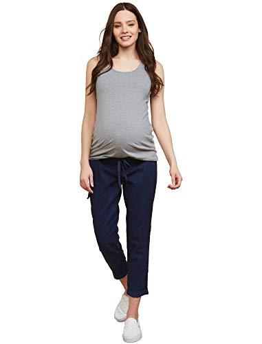 (Motherhood Under Belly Twill Straight Leg Maternity Crop Pants)