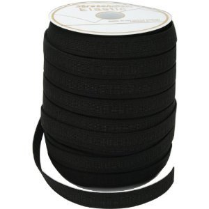 (Black 3/4 inch Non-Roll Elastic (Per 3 Yard Cut) For Waistbands, Cuffs, Pajamas, Pants, Garments by Stretchrite)